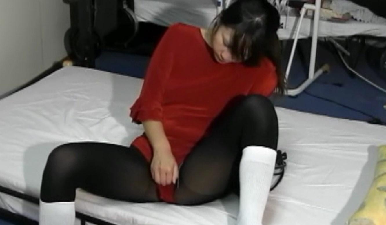 レオタード美女のオナニーシーン